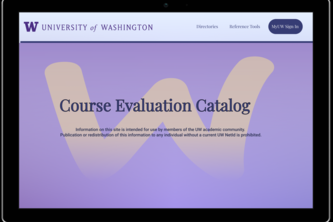 UWB 2021 Hacks From Home: A New Course Evaluation Catalog