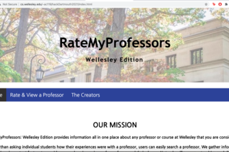 RateMyProfessors: Wellesley Edition