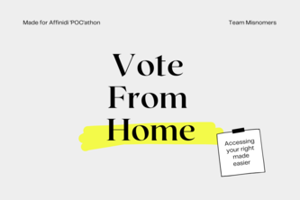 Vote from Home - Your Democratic right Modernized