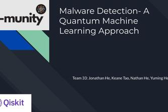 Malware Detection- A Quantum Machine Learning Approach