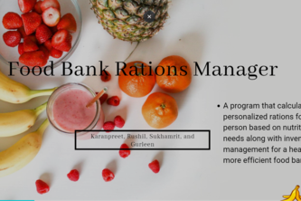 Food Banks Rations Manager