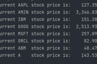 Stock Price Webscraping