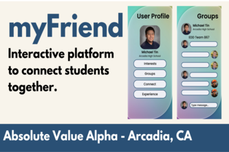 myFriend: Interactive platform to connect students together.
