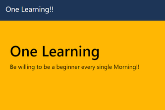One-Learning