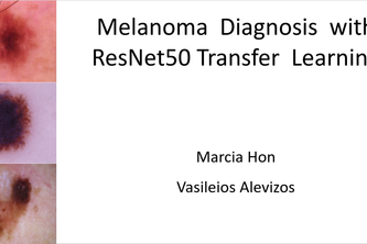Melanoma  Diagnosis  with  ResNet50 Transfer  Learning