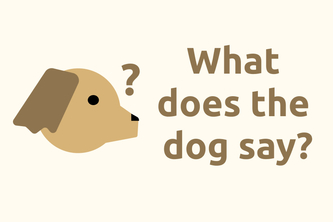 What does the dog say?