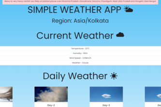 Weather App Using Bootstrap
