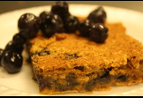 Sweet Potato-Blueberry oat squares