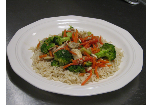 Thai vegetable stir fry with brown rice chicken recipes for image forumfinder Image collections