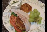 Chickpea Burger on Whole Wheat Pita