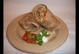 Grilled Chicken, Rice and Bean Stuffed Burrito
