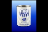 Canned Emergency Water with a 30+ Year Shelf Life