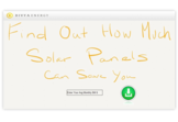 Solar panels savings dashboard