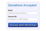 ChipIn - Crowdsourced funding with MintChip