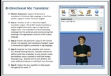 Bi-directional Sign Language Translator