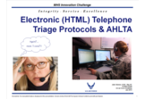 Electronic (HTML) Telephone Triage Protocols & AHLTA
