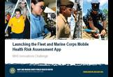 Fleet and Marine Corps Mobile Health Risk Assessment App - NMCPHC