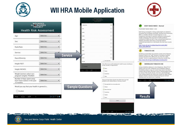 Fleet and Marine Corps Mobile Health Risk Assessment App NMCPHC – Health Risk Assessment