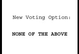 """None of the above"" election option"