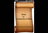 Notes on Constitution of India