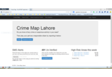 Crime Map Lahore