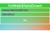 YoWebsiteIsDown