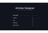 Interactive articles designer