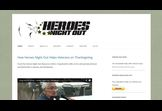 Heroes Night Out - new appealing website for veterans