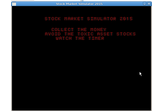 Stock Market Simulator 2015