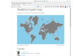 Realtime tweet map