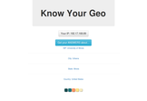 Know Your Geo